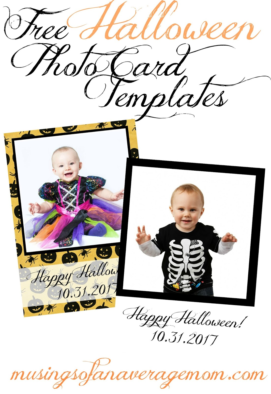 musings of an average mom free halloween photo card templates
