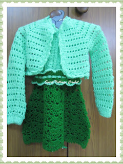 crochet girl jacket, crochet headwear