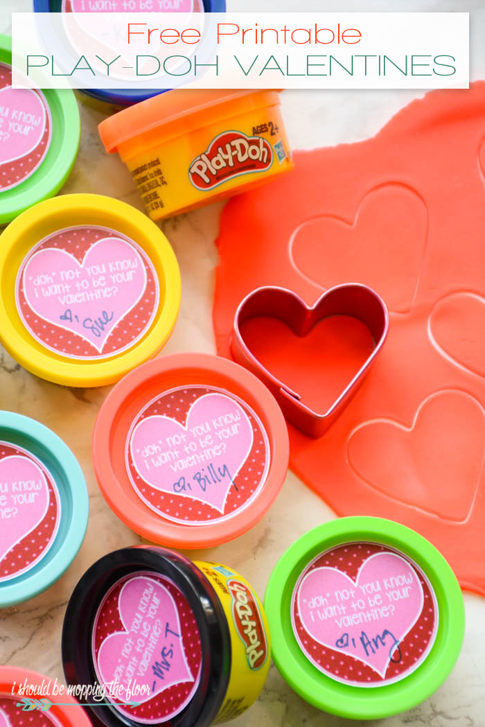 photo about Play Doh Valentine Printable called Absolutely free Printable Engage in Doh Valentines i ought to be mopping the