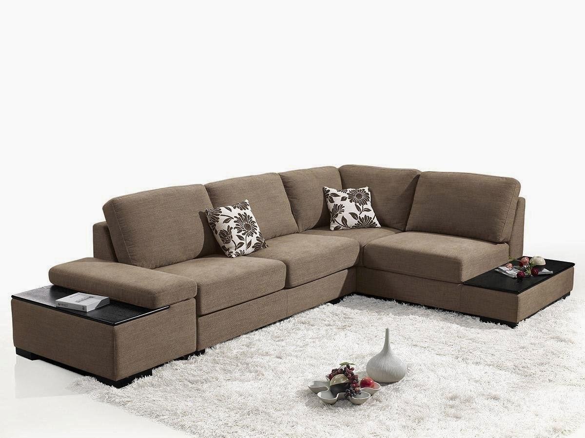 Risto Taupe Microfiber Fabric Sectional Sofa