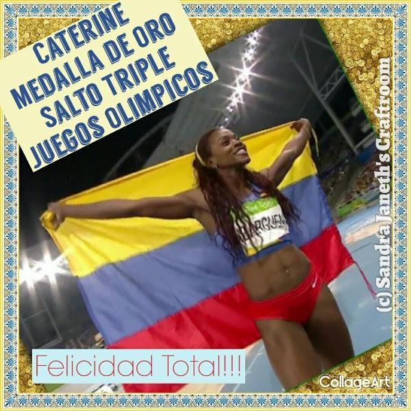 Cáterine Ibarguen, Medalla Oro, Juegos Olímpicos Río 2016
