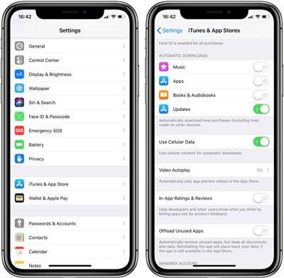 cara mematikan otomatis update aplikasi iphone dan ipad