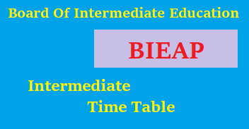 ap intermediate 1st and 2nd year time table 2018 - bieap.gov.in