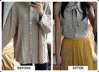 Eski Gömleği Değerlendirme- Bluz Yapımı, Resimli Açıklamalı
