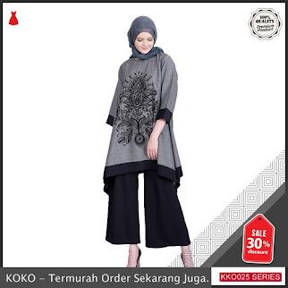 KKO25 JLN484 Tunik Pria Muslim Tangan Tanggung Printing Modern BMGShop