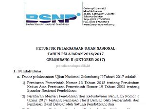 Juklak UN Gelombang 2 (UN Ulang) TP 2016/2017