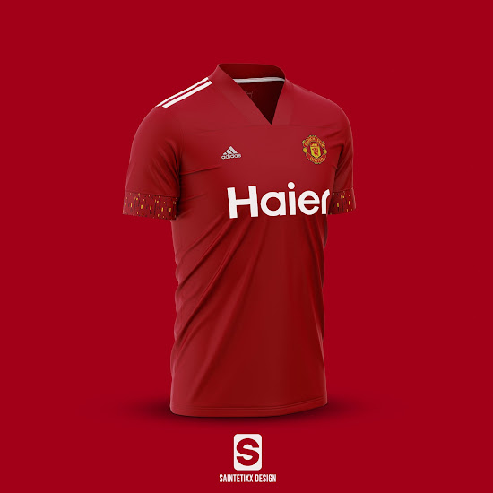 how the manchester united 20 21 home kit could look like based on leaked info footy headlines manchester united 20 21 home kit