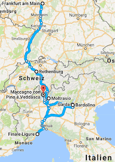 Route: Roadtrip Norditalien mit Baby