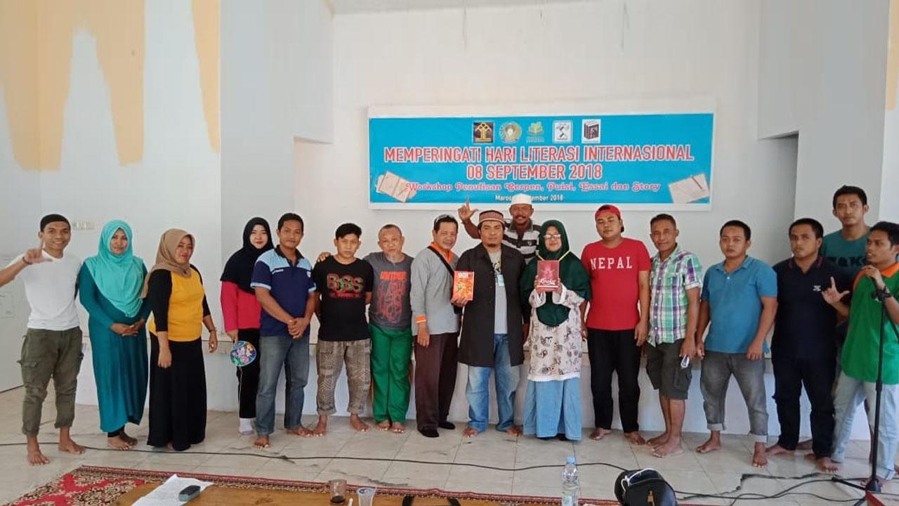 Peringati Hari Literasi Internasional di Lapas Maros 2