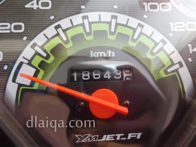 odometer di titik akhir - Cipinang, Jakarta Timur