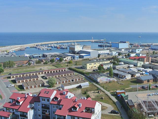 widok na port Władysławowo, wieża, widok