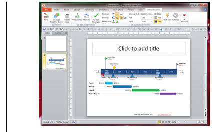 How to Use office Timeline in PowerPoint?