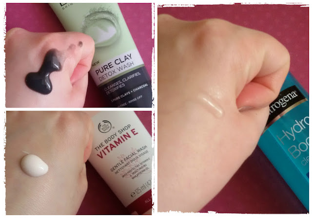 loreal pure clay detox neutrogena hydroboost vitamin E