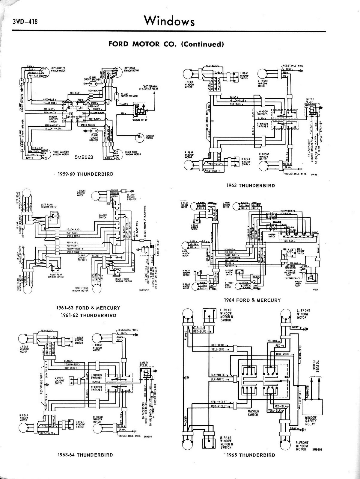 Free Auto Wiring Diagram  1965 Ford Thunderbird Window Controls Diagram