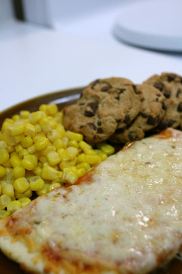 Pizza, Corn, and a Cookie