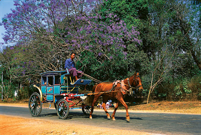 Road travel in Shan State by coach