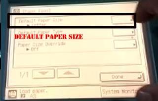default paper size