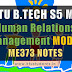 Note for ME373 Human Relations Management | S5 ME Elective Module-2