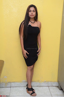Vrushali Gosavi in strapless Short Black Dress At Follow Follow U Audio Launch 092.JPG