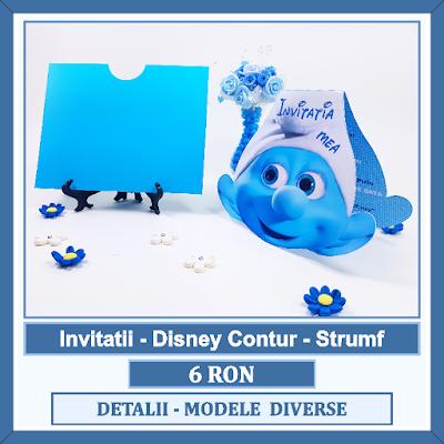 http://www.bebestudio11.com/2017/03/invitatii-botez-disney-contur-strumf.html