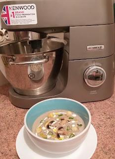 Supa crema de ciuperci cu ajutorul blender-ului Kenwood