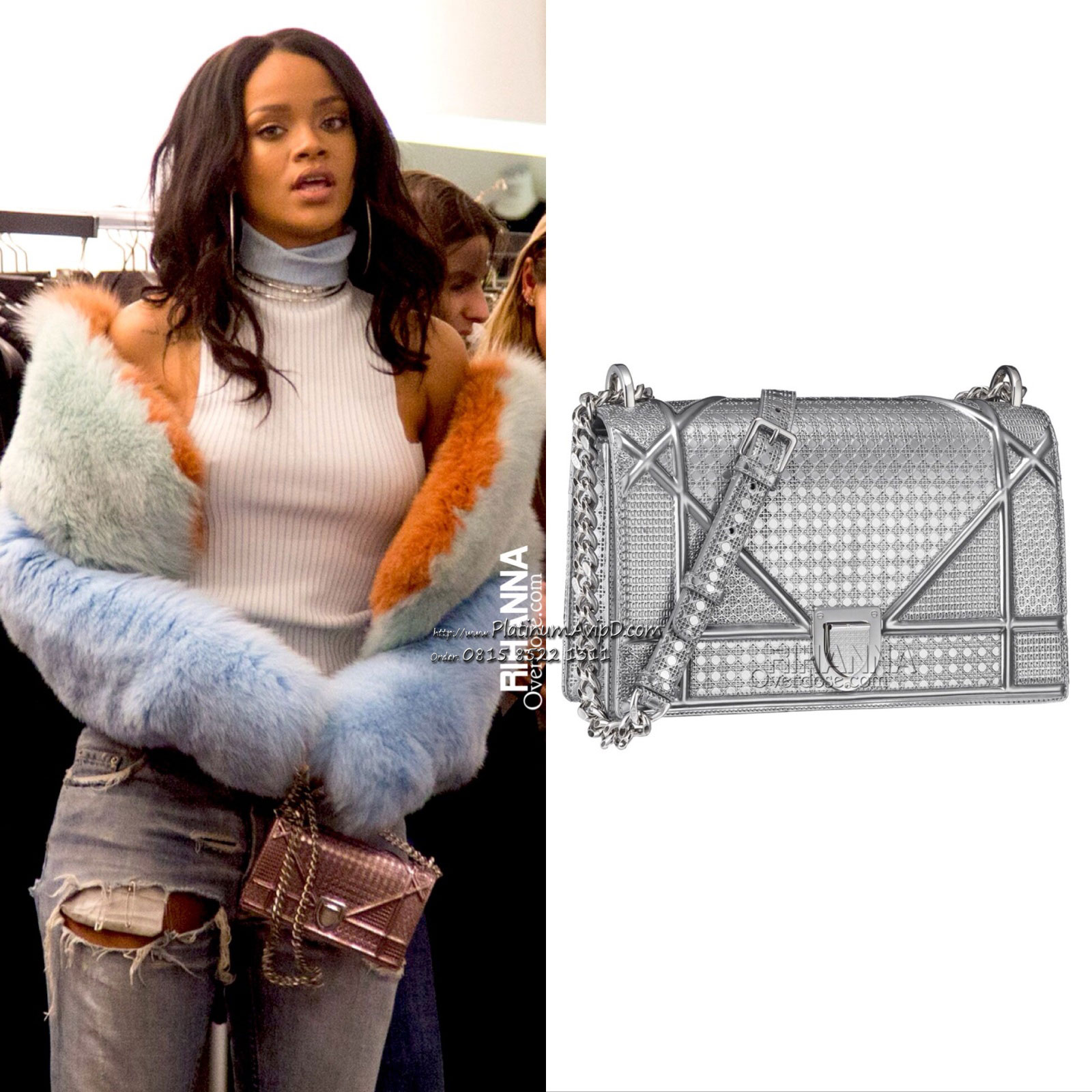 3421c7be4de0 The Dior Diorama Flap bag comes in different colours and textures.