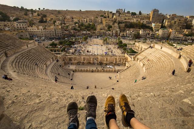Última fila del Teatro Romano de Amman