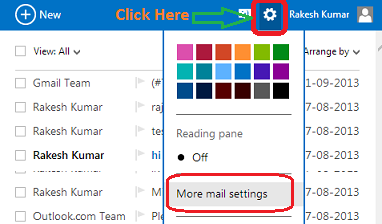 Move Email into Folder of Specific Sender in Hotmail