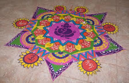 Hindi Rangoli Designs For Holi ! Art Magazine