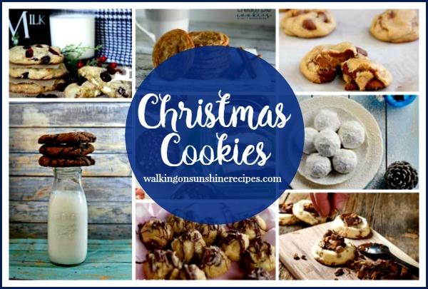 Christmas Cookie Recipes: Delicious Dishes Party featured on Walking on Sunshine Recipes