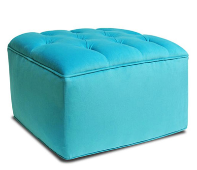 Tufted Ottoman | Everything Turquoise