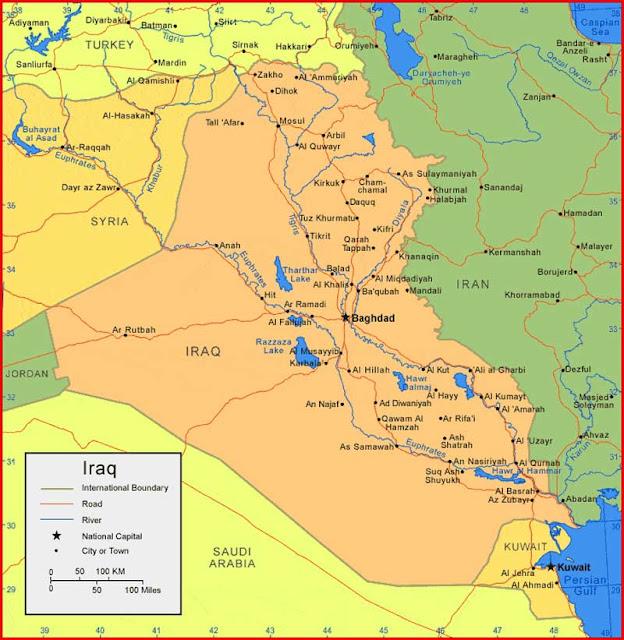 Gambar Peta Iraq