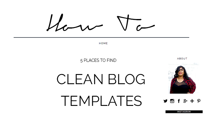 Places To Find Clean Blog Templates