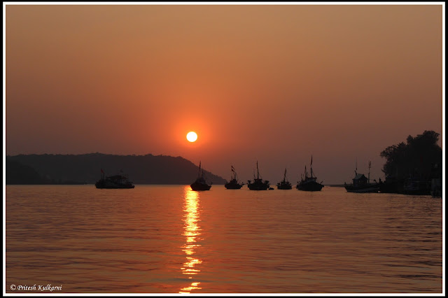 Sunset from Dhabol-Dhopave jetty