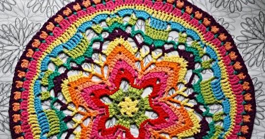 Veggiecrochet Starflower Mandala Nr2 Für Wanddeko Projekt