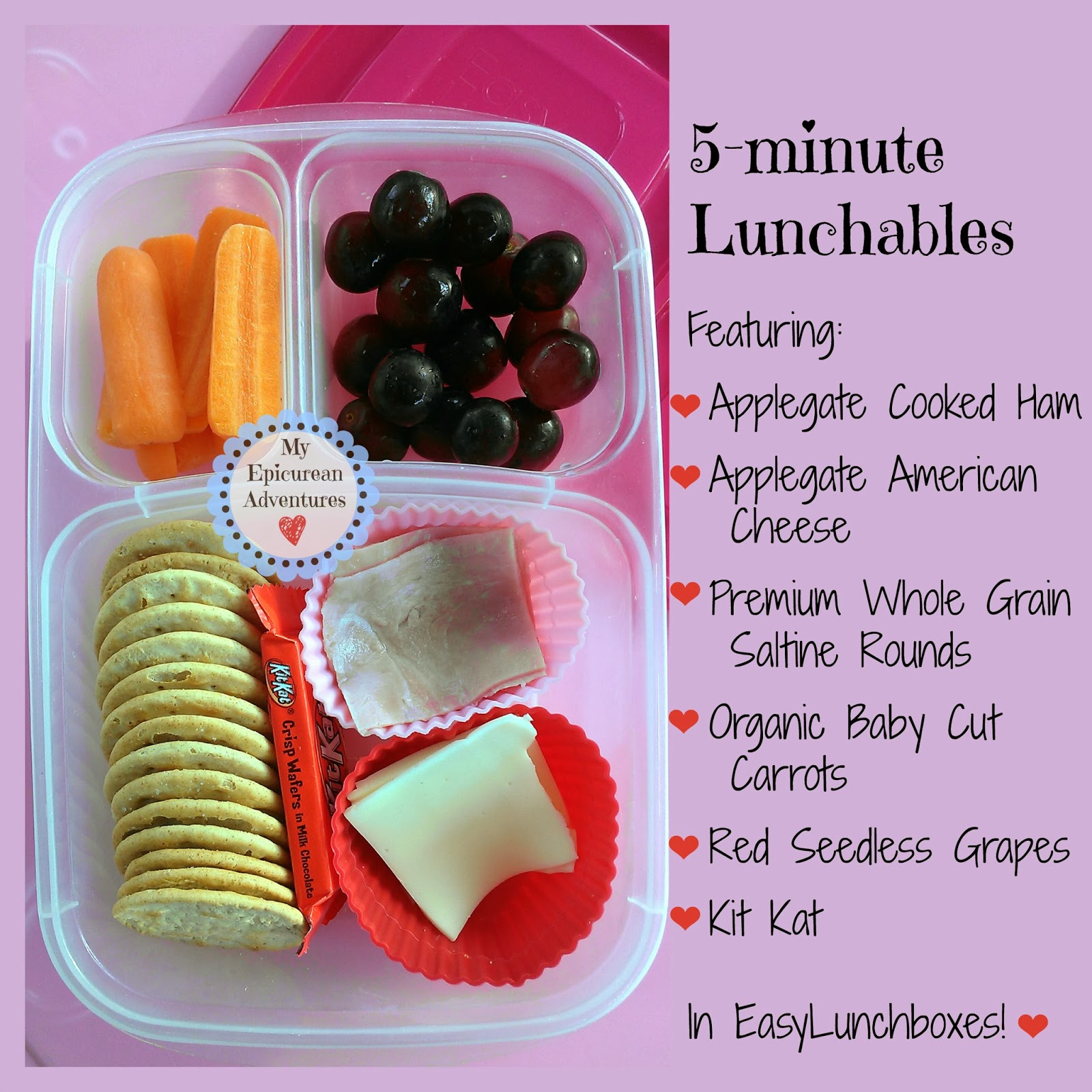 My Epicurean Adventures: Easy Lunchables in #easylunchboxes