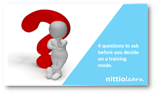 4 questions to ask before you decide on a training mode