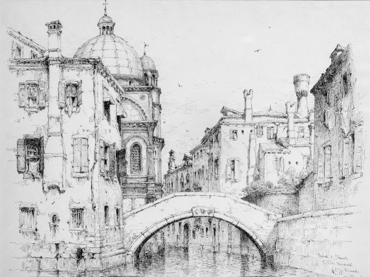 05-Santa-Maria-dei-Miracoli-1883-Andrew-F-Bunner-Venice-Urban-Architectural-Drawings-from-the-1800s-www-designstack-co