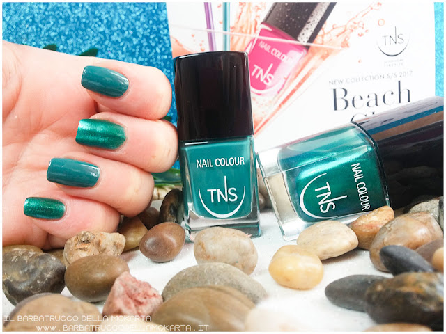 Nails smalto blu polish beach club collection TNS cosmetics drinks and cocktails