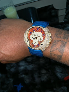 Davido Shows Off His Newly Acquired Diamond Encrusted Wristwatch Worth N90.2M