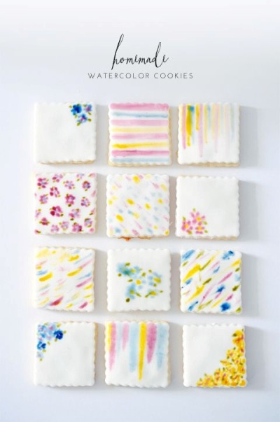 3. Homemade Watercolor Cookies