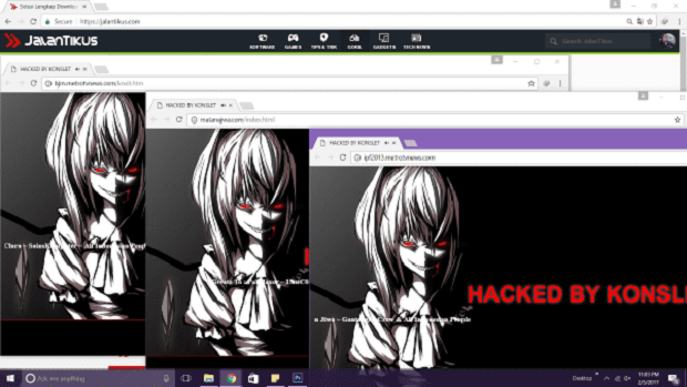 "Situs Milik Metro TV Dan Mata Najwa Kena Hack ! ""HACKED BY KONSLET"""