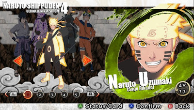 Naruto Shippuden : Ultimate Ninja Impact  MOD Texture Naruto Sage [Sage Rikudo] For PPSSPP Terbaru