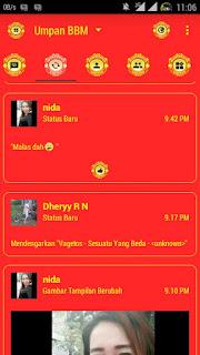 BBM Mod Man United Theme Clone Only v3.0.1.25 Apk Terbaru