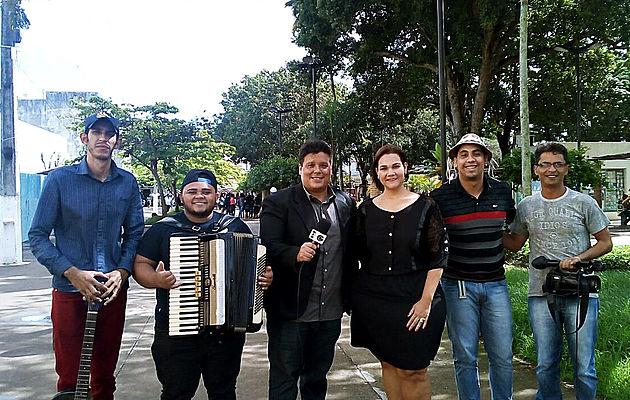 Músicos delmirenses divulgam São João Centenário de Delmiro Gouveia na TV Gazeta