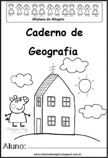Capa caderno para geografia