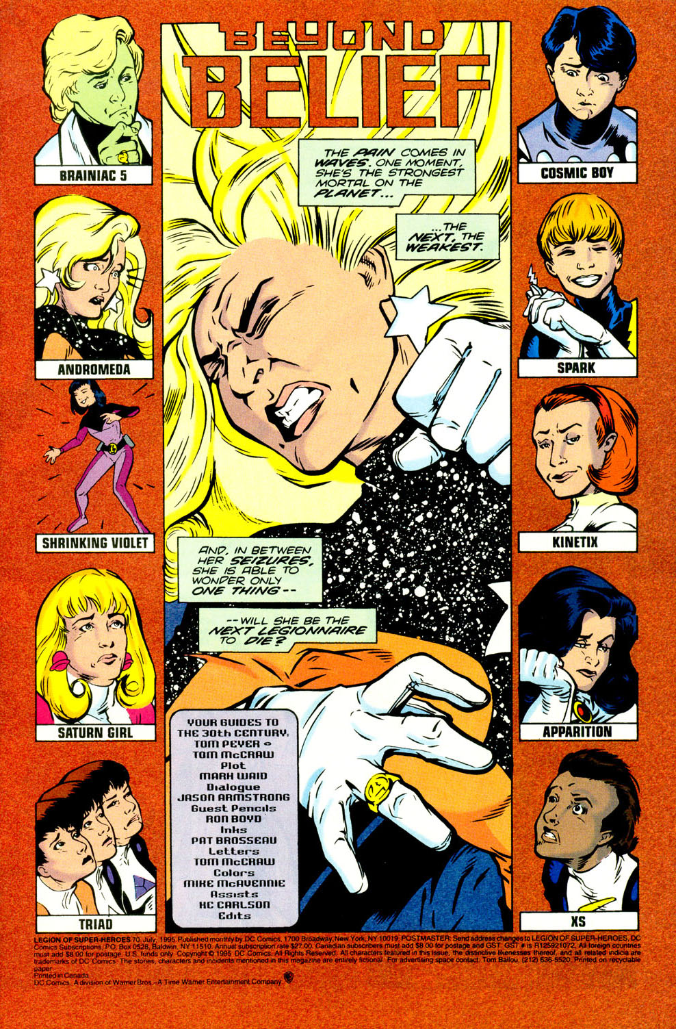 Legion of Super-Heroes (1989) 70 Page 1