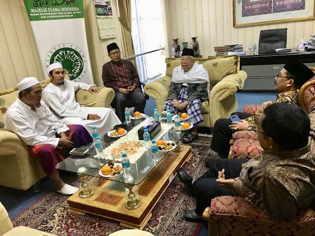 Temui KH Ma'ruf Amin, Pernyataan Ketum FPI Bikin Musuh Islam Bungkam