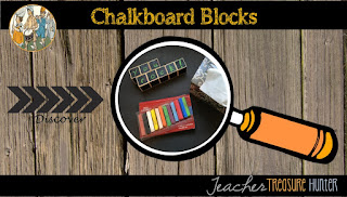 Chalkboard blocks for the classroom