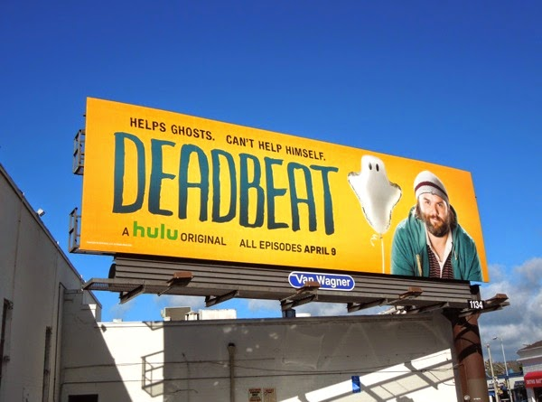 Deadbeat season 1 Hulu billboard